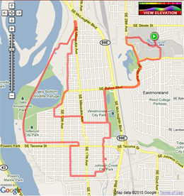 SE Portland Ponds Ride Shortened